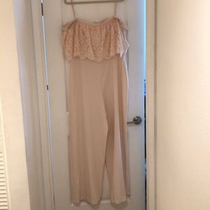 BHLDN Ballet Slipper Lace strapless Jumpsuit